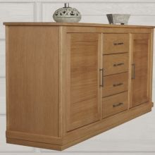 03 Dressoir Miami Met 4 Laden Zijaanzicht Tabak Greep Classic