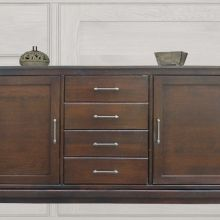 03 Dressoir Miami Met 4 Laden Classic Oak Greep Classic