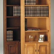 Boekenkast Bayonne E50 en Blank patine z. ornamentjes