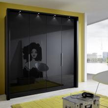LOFT_2125_13_DTS200cm_schwarz,Front Glas schwarz