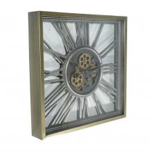 G6083352 Clock Gear Open 53x53cm Silver