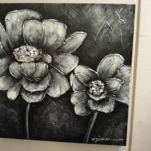 Canvas bloemen